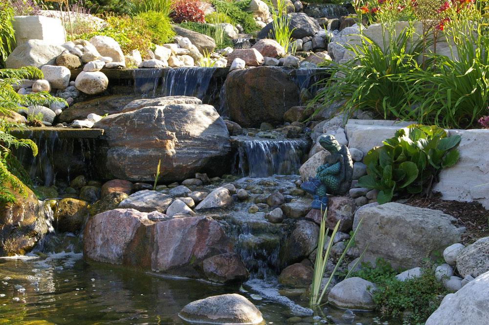 Waterfalls & Pond